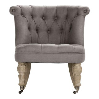 Shelley Slipper Chair in Gray For Sale