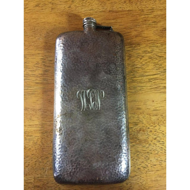 Silver-Plate Hip Flask by Apollo Co c. 1900 For Sale - Image 5 of 9