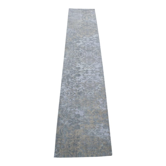 Modern Wool Runner Rug - 2' X 10' For Sale