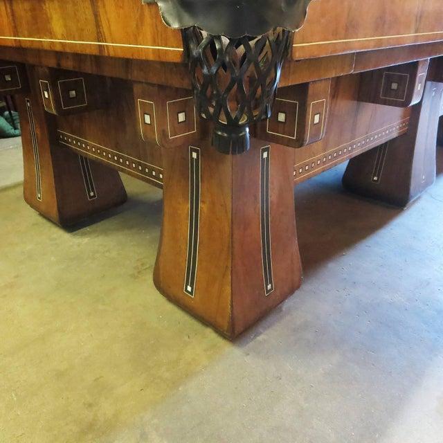 1915 Brunswick Arcade Pool Table With Rare Six-Legged Base For Sale - Image 4 of 9