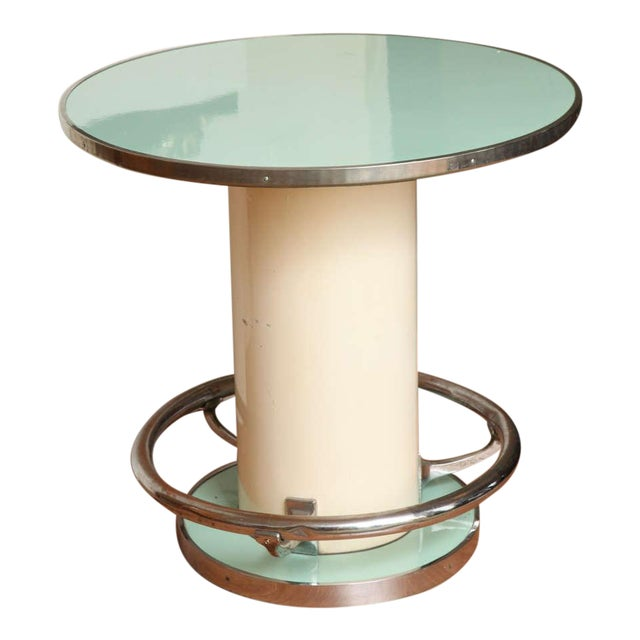 Maison Leleu Modernist Round Table For Sale