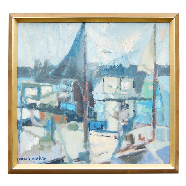 """""""Portscape"""" Painting by Parmo Baslund - Image 1 of 5"""