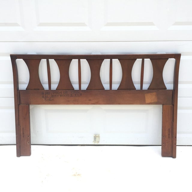 Mid-Century Modern Kent Coffey Queen Size Headboard For Sale - Image 3 of 13