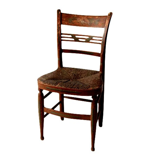 Antique Rush Seat Chair - Image 1 of 6