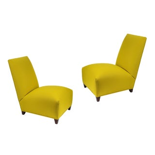 Pair of Chic Slipper Chairs by Donghia, 1980's For Sale