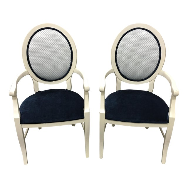 Century Frame Accent Chairs - Pair - Image 1 of 5