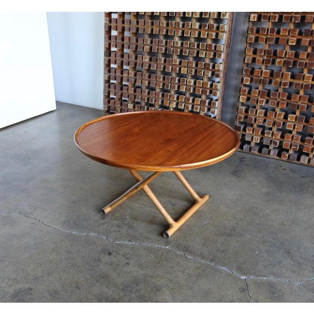 1950s Danish Modern Mogens Lassen for A.J. Iversen Center Table For Sale In Los Angeles - Image 6 of 13