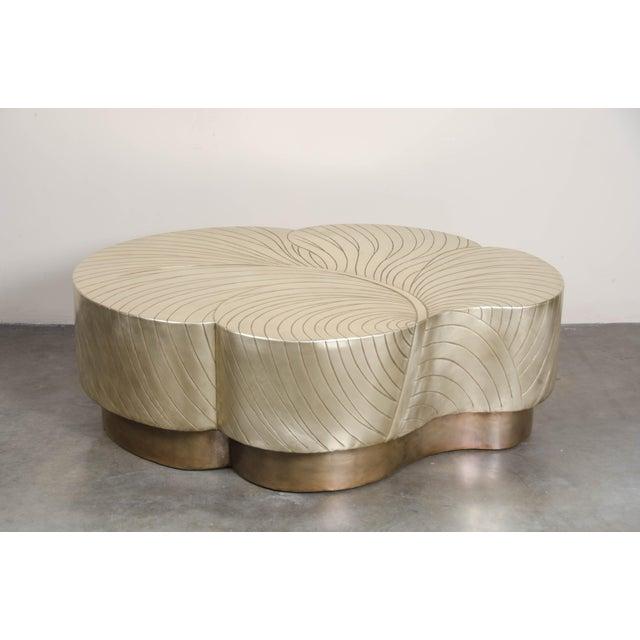 Brass Leaf Design Cocktail Table - Brass For Sale - Image 7 of 7