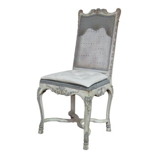 Early 20th Century Antique Swedish Rococo Style Desk Chair For Sale