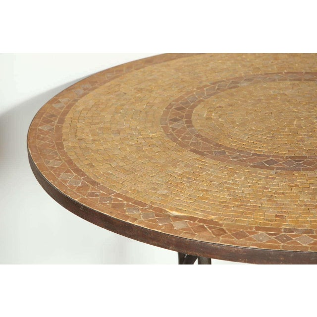 Mid 20th Century Moroccan Marble and Stone Mosaic Table Indoor or Outdoor For Sale - Image 5 of 10