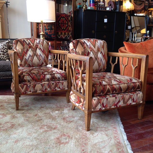 Vintage Barrel Back Club Chairs - A Pair - Image 2 of 11