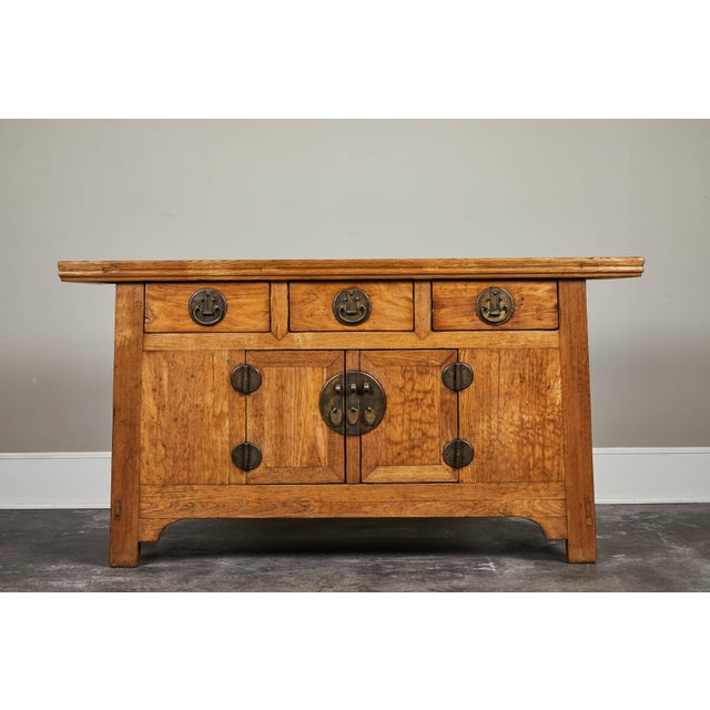 19th C. Chinese Elm Sideboard For Sale - Image 9 of 9