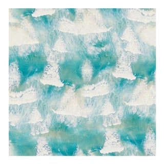 Mitchell Black Home Ocean Waves Cvt Contract Vinyl Wallpaper For Sale