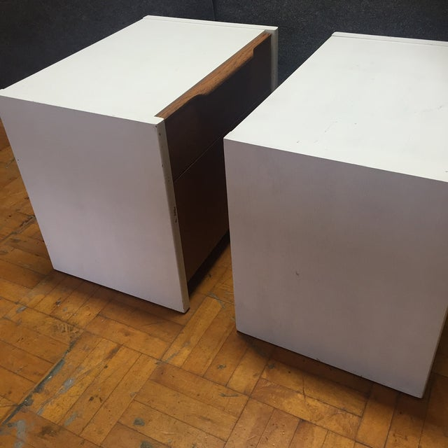 Barzilay Solid Wood Drawer Nightstands - Pair For Sale - Image 9 of 10