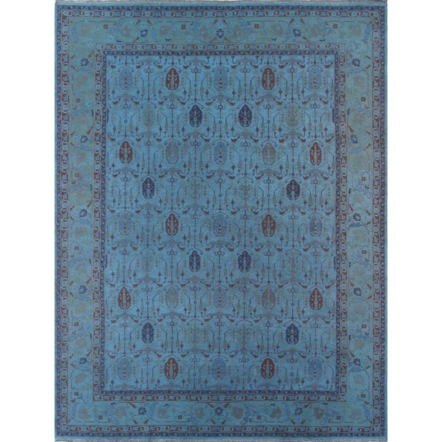 Over-Dyed Afghan Kilim Weave Rug - 10' x 13′5″ - Image 1 of 3