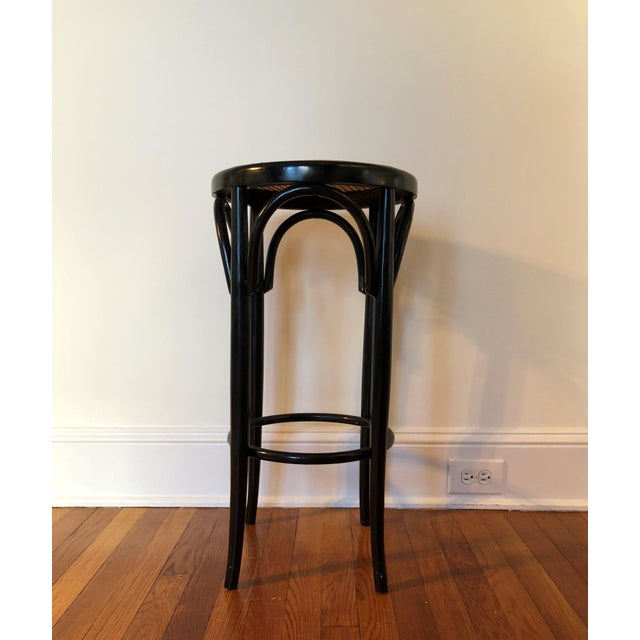 Talian Antique Bentwood and Cane Cafe Stool For Sale - Image 10 of 10