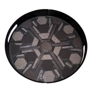 KnK Redesigns Black Mosaic Serving Tray