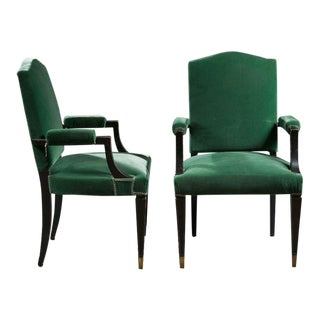 Jean Pascaud (1903 - 1996) Pair of Armchairs Bridge, Circa 1940. For Sale