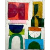 """Image of """"No One Here Is Judging You"""" Encaustic Collage Painting by Gina Cochran For Sale"""