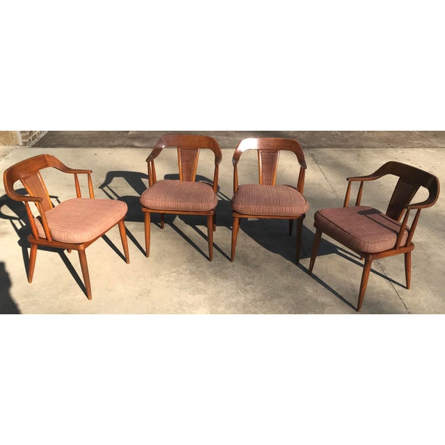 Mid-Century Modern Tomlinson of High Point Mid Century Dining Chairs - Set of 4 For Sale - Image 3 of 13