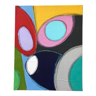 """Bold Shapes"" Abstract Mixed Media Painting by Tony Marine For Sale"