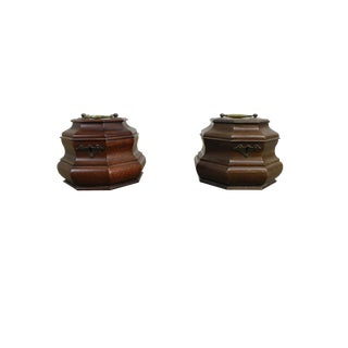 Set of 2 Colonial Williamsburg Octagonal Tea Caddies For Sale