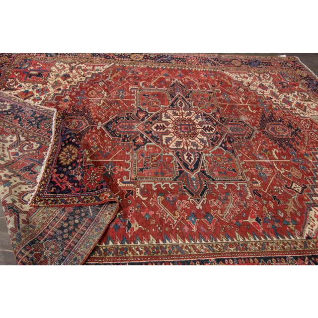 "Islamic Apadana - Vintage Persian Rug, 9'3"" x 12'7"" For Sale - Image 3 of 7"