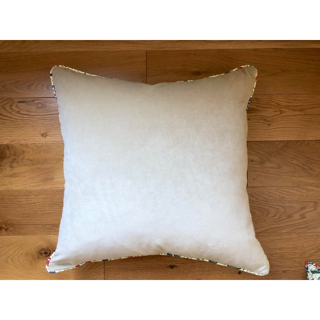 "Pierre Frey Braquenie ""Fleurs Enchantees"" Feather Down Pillows - A Pair For Sale - Image 4 of 5"