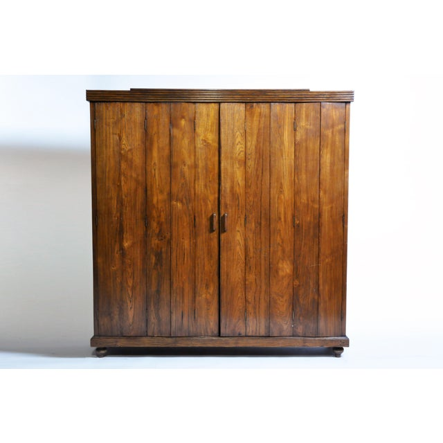 Art Deco Cabinet With Five-Panel Folding Doors From Burma For Sale - Image 13 of 13