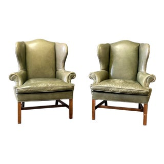 Ralph Lauren Georgian Style Wing Back Chairs For Sale