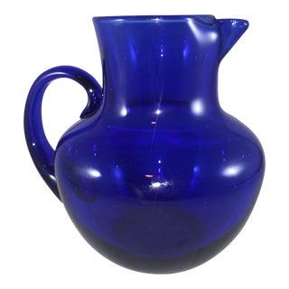 Cobalt Pot Belly Pitcher For Sale