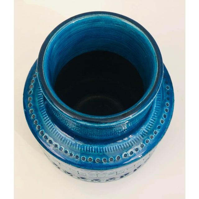 Mid 20th Century Aldo Londi for Bittosi Rimini Blue Vase For Sale - Image 5 of 7