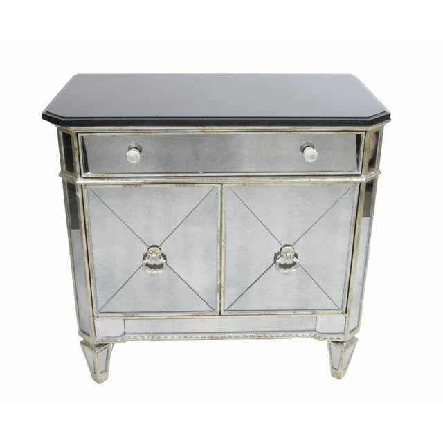 Mirrored Chest with Black Top - Image 8 of 8