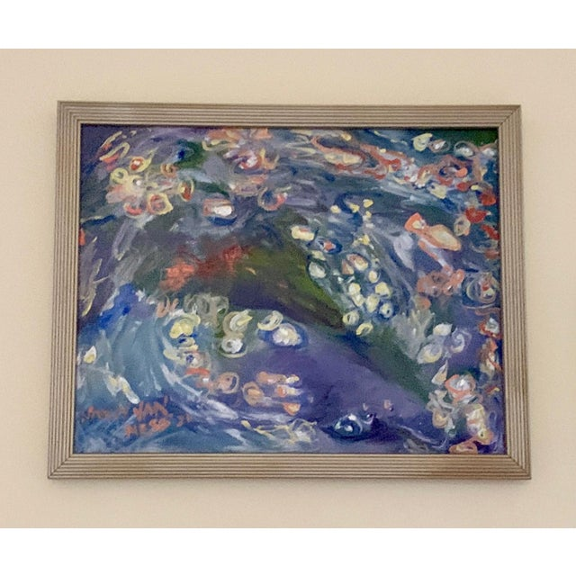 """""""Carpe Diem"""" Contemporary Abstract Oil Painting, Framed For Sale - Image 11 of 11"""