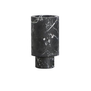 Vase in Black Marquinia Marble by Karen Chekerdjian, Made in Italy For Sale