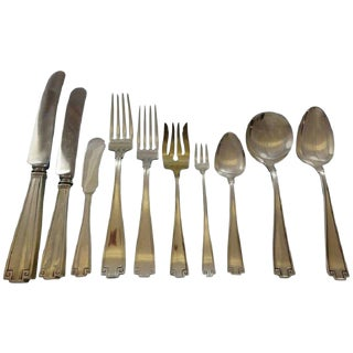Etruscan by Gorham Sterling Silver Flatware Service for 12 Set 130 Pieces Dinner For Sale