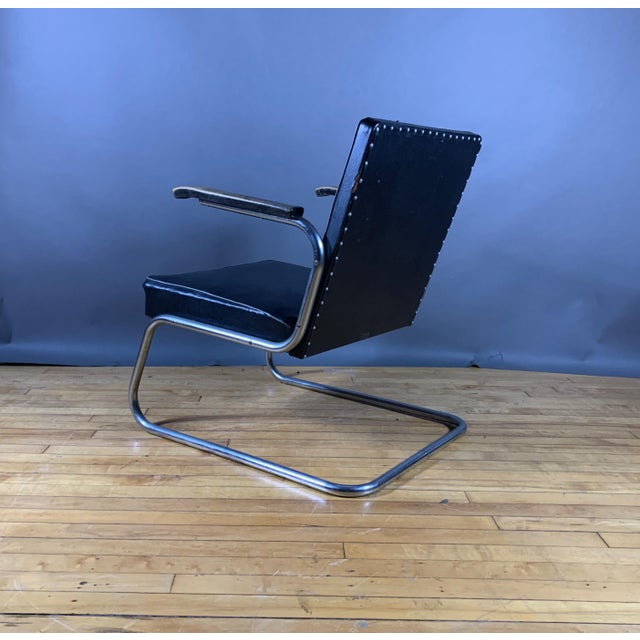 Black 1950s Drabert Germany Cantilever Armchair For Sale - Image 8 of 12