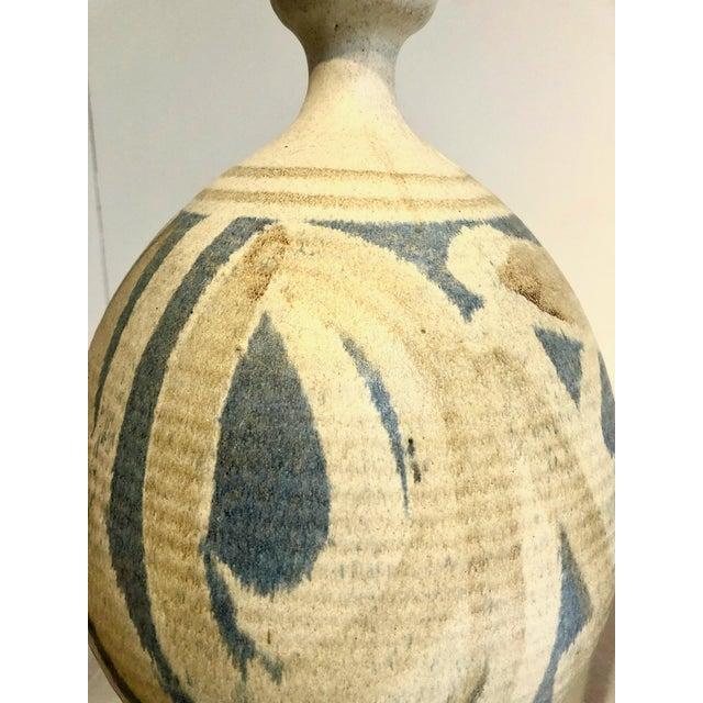 Mid-Century Modern Large Vintage Stoneware Vase by Wishon Harrell For Sale - Image 3 of 9
