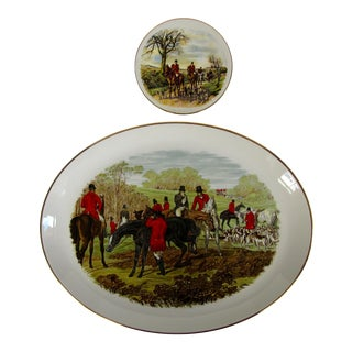 Horse & Hound Hunting Plates-2 Pieces For Sale