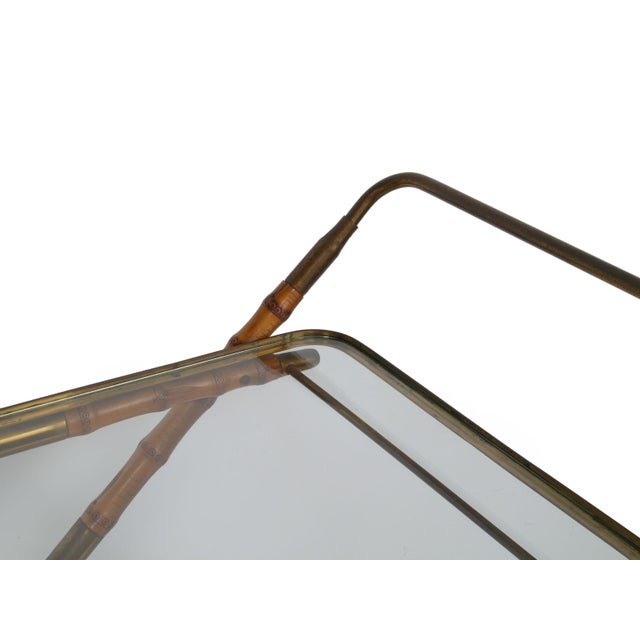Metal 1950 Cesare Lacca Brass Serving Cart For Sale - Image 7 of 8
