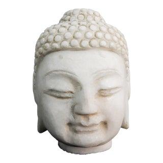 Carved Marble Gautama Buddha Head