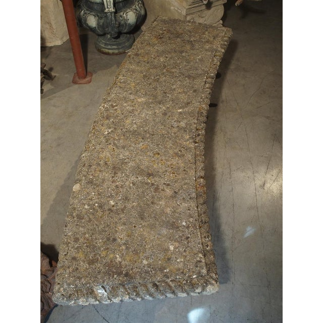 Circa 1900 Reconstituted Stone Dolphins Bench From France For Sale - Image 9 of 13
