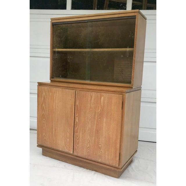 Vintage Art Deco Sliding Glass Cabinet
