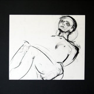 Black Pastel Figure Framed Original Art For Sale