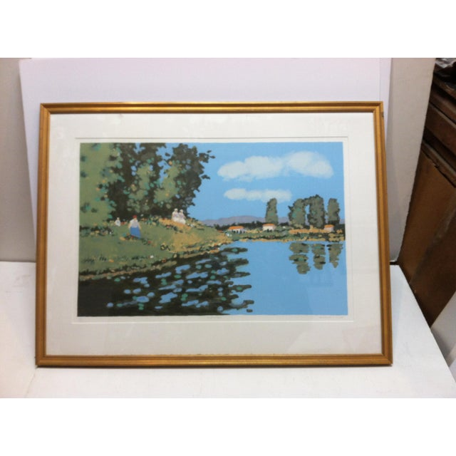 "Vintage Mid-Century Frederick McDuff ""Reflections"" Framed & Matted Limited Edition Print For Sale - Image 10 of 10"
