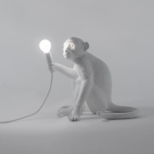 Resin Seletti, Sitting Monkey Lamp, White, Marcantonio, 2016 For Sale - Image 7 of 11