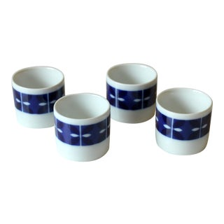 Ceramic Egg Cups Melitta, Vintage From the 1970s - Set of 4 For Sale