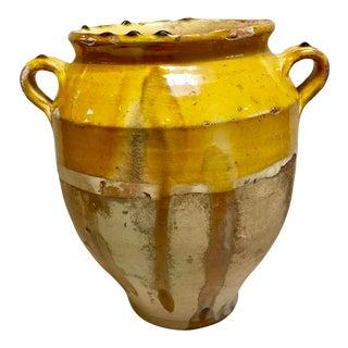 Antique French Confit Pot For Sale