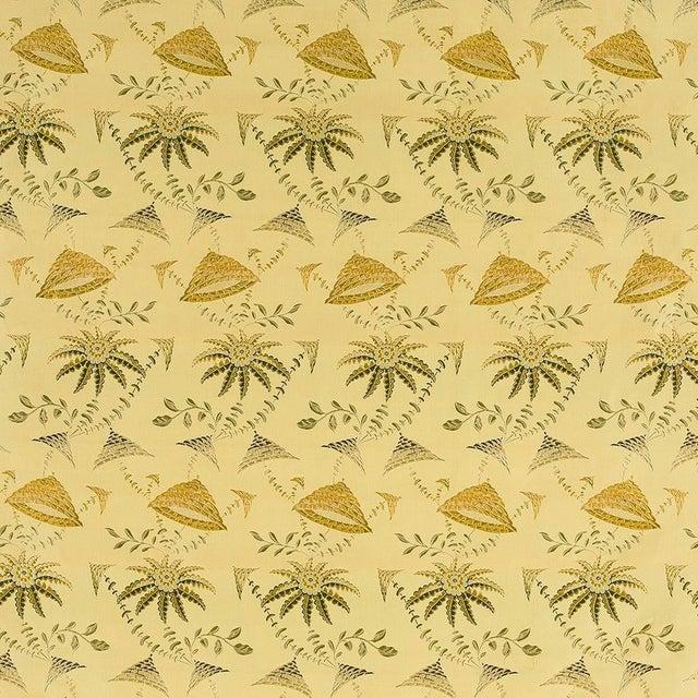 Suzanne Tucker Home Brighton Bizarre Silk Satin Brocade in Fawn For Sale