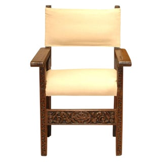 18th Century Spanish Baroque Armchair For Sale